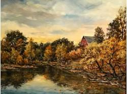 """Картина """"Уж небо осенью дышало""""."""