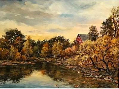 """Картина """"Уж небо осенью дышало"""""""