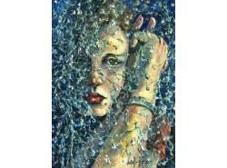 """Картина """"Дождь за окном """"."""