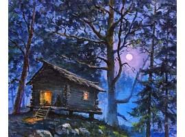 """Картина """"Избушка в лесу""""."""