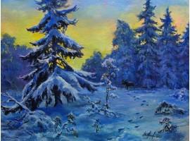 "Картина ""Зимние сумерки"""