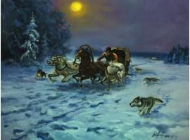 "Картина ""Нападение волков""."