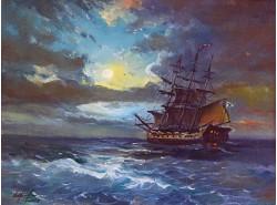 """Картина """"Хмурое море""""."""