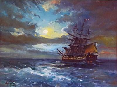 """Картина """"Хмурое море"""""""