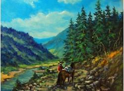 """Картина """"На горной дороге"""""""