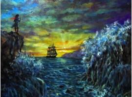 """Картина """"В гавани""""."""