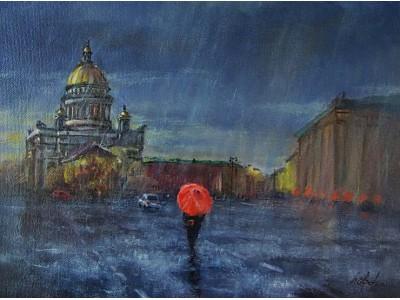 """Картина """"Дождливый Петербург"""""""