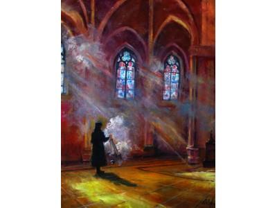 """Картина """"В католическом храме"""""""