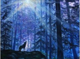 """Картина """"Песня волка""""."""