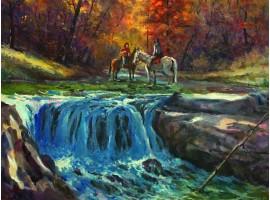 "Картина ""Маленький водопад""."
