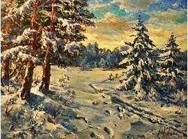 """Картина """"Фантазия на зимнюю тему""""."""