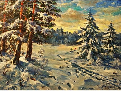 """Картина """"Фантазия на зимнюю тему"""""""