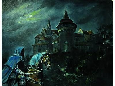 """Картина """"Лунная ночь Средневековья."""""""