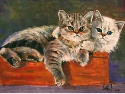 """Картина """"Котята.""""."""