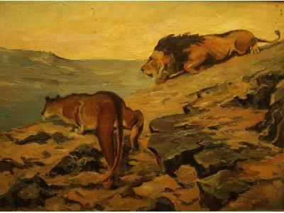 "Картина ""Хищники пустыни"""