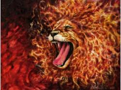 """Картина """"Огненный лев""""."""