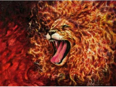 """Картина """"Огненный лев"""""""