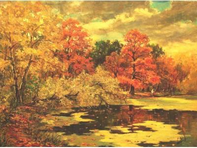 """Картина """"Осенний пейзаж. Покровское-Стрешнево""""."""