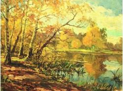 "Картина ""Осень на озере""."