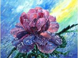 "Картина ""Мокрый цветок""."