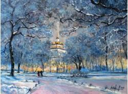 "Картина ""Адмиралтейство зимой""."