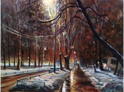 "Картина ""Ночной бульвар""."