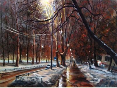 "Картина ""Ночной бульвар"""