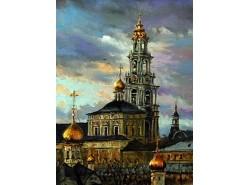 """Картина """" Троице Сергиев монастырь""""."""