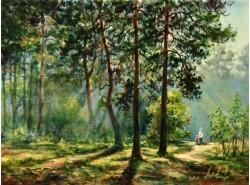 """Картина """"Полдень в лесу""""."""
