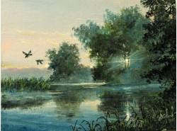 """Картина """"Утренний туман""""."""
