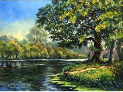 """Картина """"Летний день у реки"""""""