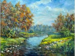 """Картина """"У реки""""."""