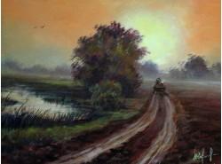 "Картина ""Дорога в туман""."