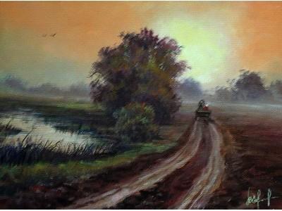 "Картина ""Дорога в туман"""