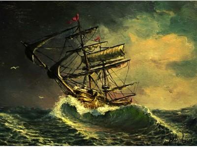 """Картина """"На гребне волны"""""""