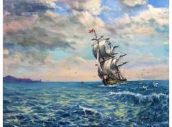 """Картина """"На морском просторе"""""""