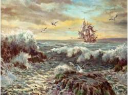 """Картина """"Морской прибой"""""""