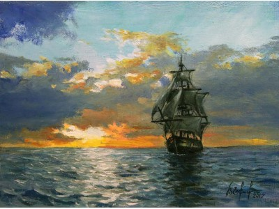 """Картина """"Морской закат"""""""