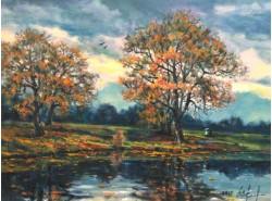 """Картина """"Ненастная осень""""."""