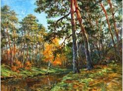 """Картина """"Осень в Серебряном Бору""""."""