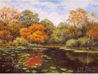 """Картина """"Осенний пруд"""""""