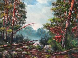 """Картина """"Утро в лесу""""."""