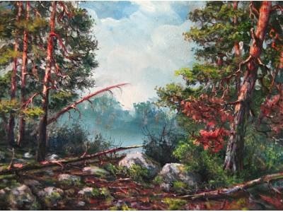 """Картина """"Утро в лесу"""""""