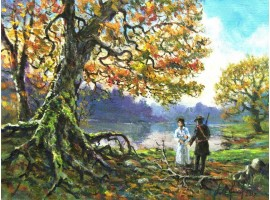 "Картина ""Встреча у озера""."