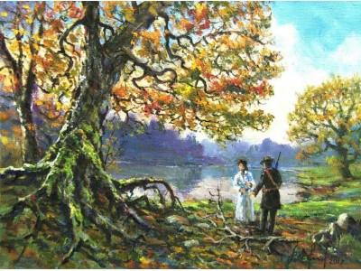"Картина ""Встреча у озера"""