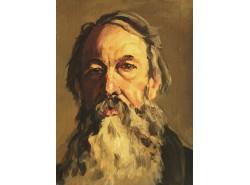 Портрет В.В.Стасов (копия, оригинал И.Е.Репин).