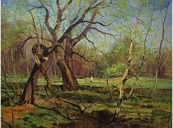 """Картина """"В парке весной""""."""