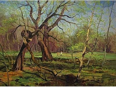 """Картина """"В парке весной"""""""