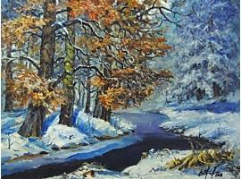 """Картина """"Речка зимой"""""""