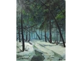 """Картина """"Оттепель в лесу""""."""